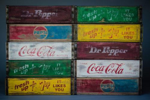 Vintage style soda crates