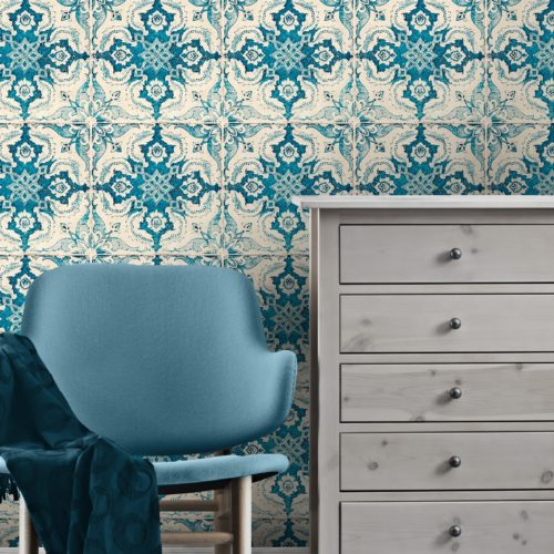 fashionable blue Interior design