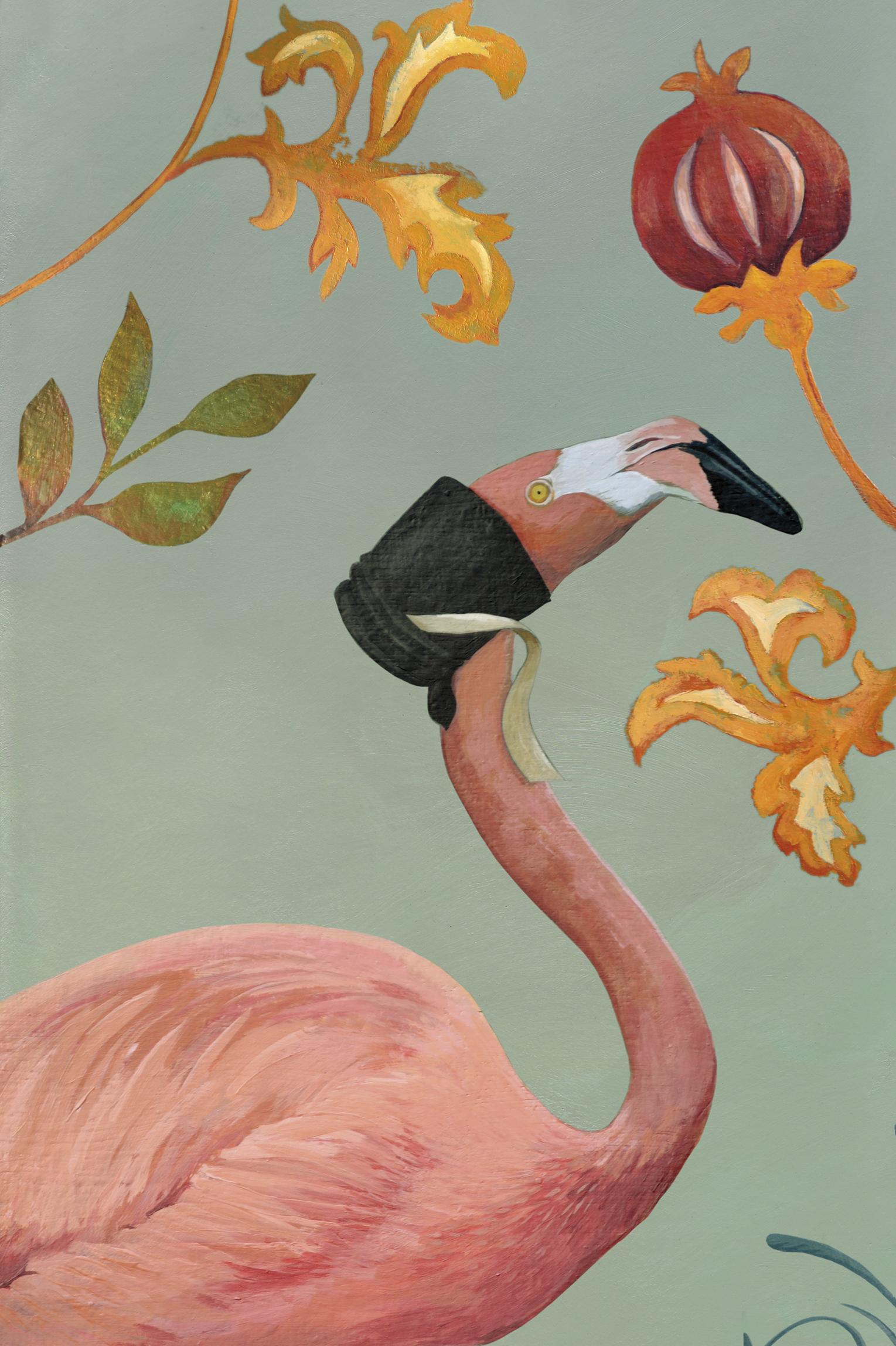La Belle Flamande Flamingo Wall Hanging Anna S Attic